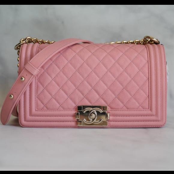 CHANEL Handbags - Chanel Boy Pink Caviar 19S Old Medium
